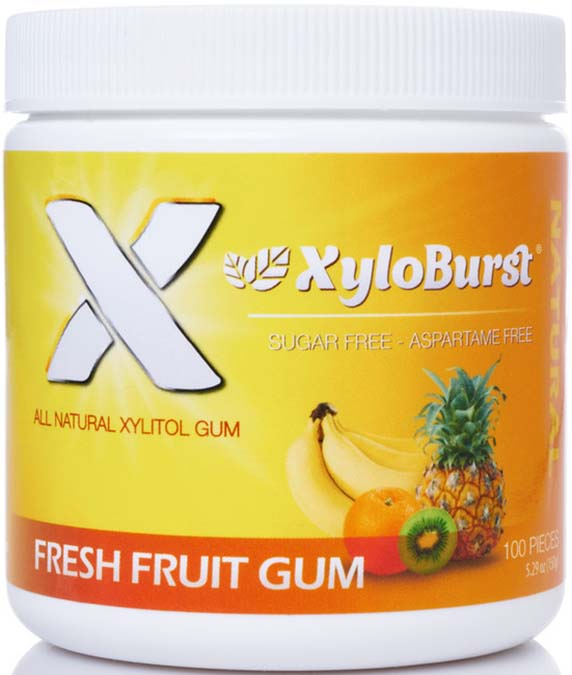 Fruit Xylitol Gum Jar 100 CT