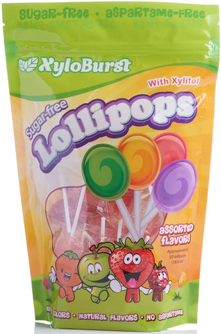 Assorted Lollipops w- Xylitol 50 PC