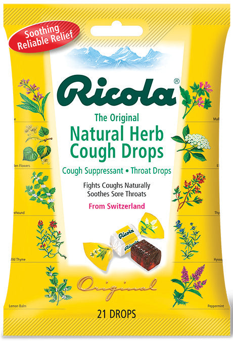 Natural Herb Cough Drops 21 CT