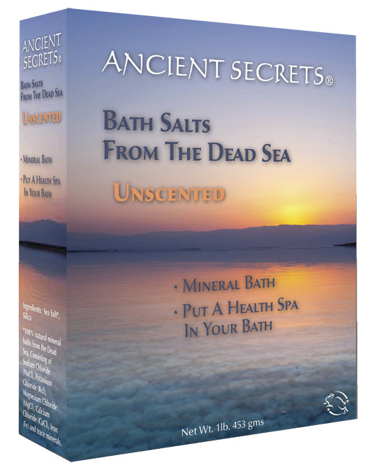 Unscented Dead Sea Bath Salts 1 LB