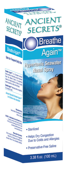 Seawater Nasal Spray 3.38 OZ