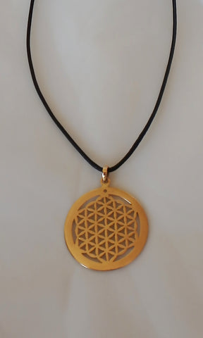 Brass Flower Of Life Necklace