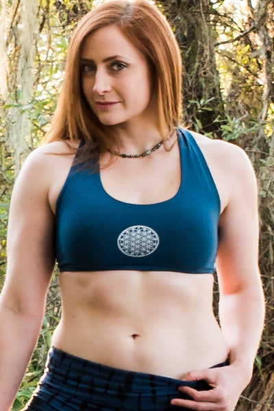 Cobalt Flower of Life Baru Sports Bra