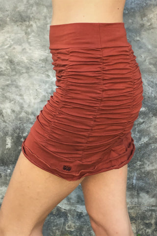 Rust Ruffle Skirt