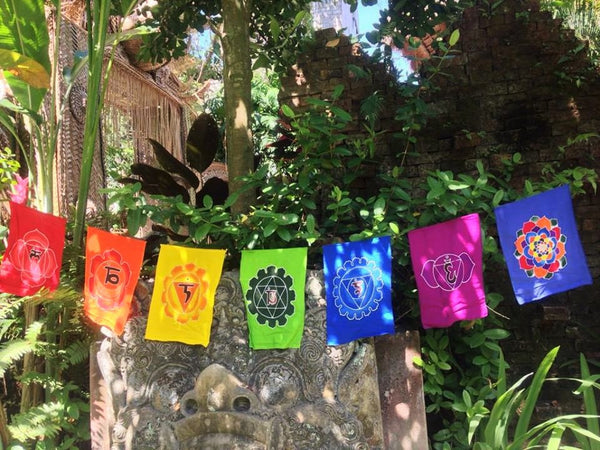 Chakra Batik Home Decor Flags