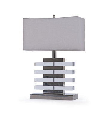 Claro Nikel and Acrylic Table Lamp ~ Free Shipping