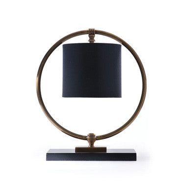 Fairmont Iron Circle with Shade inside  Table Lamp ~ Free Shipping