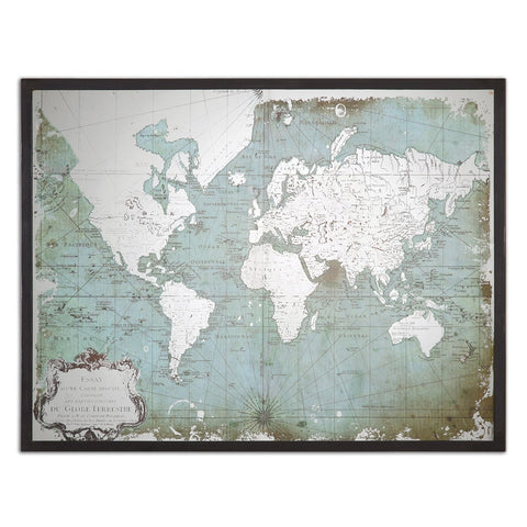 Mirrored Wall Map ~ Free Shipping