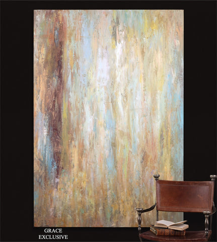 Raindrop Large Contemporary Canvas ~ 70 X 48 ~ Free Shipping