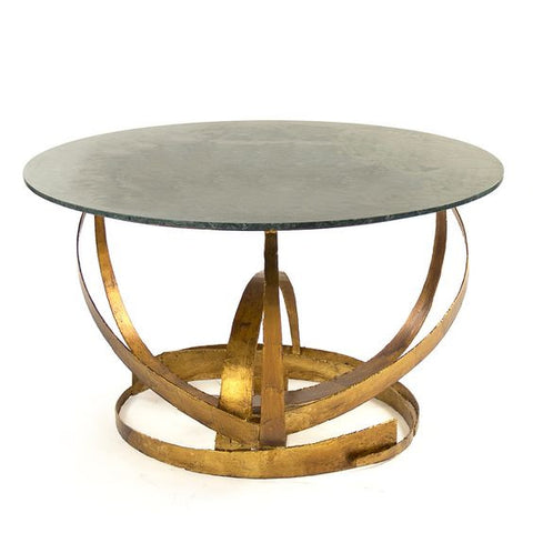 Rayce Dining Table ~ Stunning Round Coffee Table with elegant strong contemporary metals ~ Free Shipping