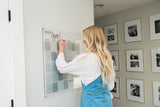 Write-On Calendar Stylish Acrylic Blue and Clear with Contemporary Silver Wall Mounts ~ Free Shipping