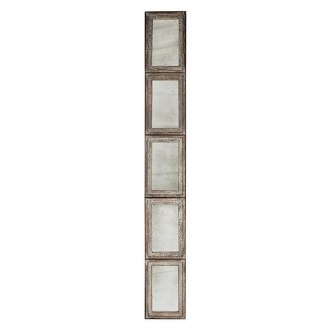 5-PANEL RUSTIC BARNWOOD MIRROR ~ Free Shipping