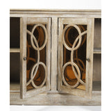 Edith Buffet Circle Wood Door Design with Sepia Mirror with Free Shipping*