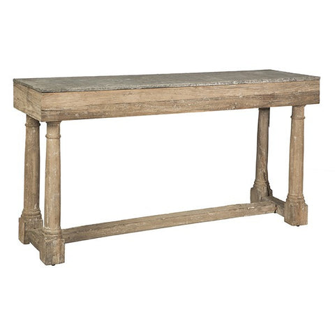MIRANDA CONSOLE WITH STONE TOP ~ Free Shipping