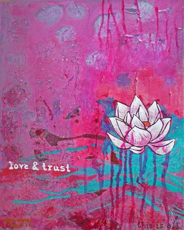 Love and Trust ~ original art by Katharina Lucia ~ free shipping is included