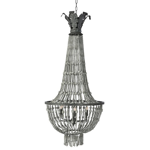 ORLEANS CHANDELIER DISTRESSED GRAY ~ Free Shipping