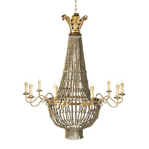 POMMARD CHANDELIER, BROWN