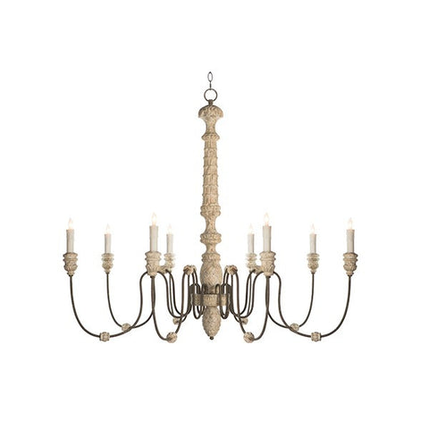 LENA CHANDELIER, RUSTIC WHITE ~ Free Shipping