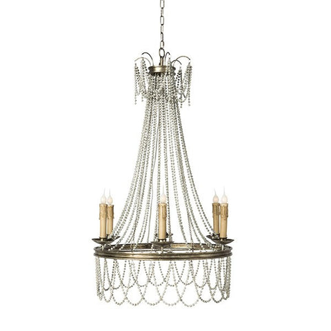 SILVER AMBER CHANDELIER ~ Free Shipping