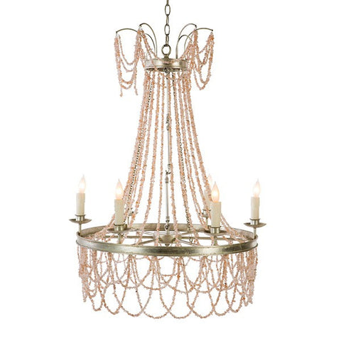 AMBER CHANDELIER, PINK ~ Free Shipping