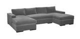 Block Arm Sectional + 1 Chaise ~ Free Shipping