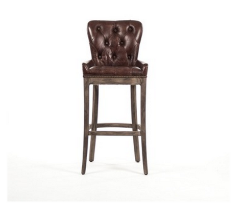 Leather Roman Bar Stool Chair for his Man Cave ~ Free Shipping