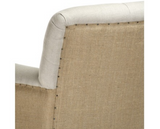 Barrois Linen with Burlap Back Tufted Counter Stool  ~ Free Shipping