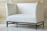 SHELTER LOVESEAT IN BELGIAN LINEN ~ Free Shipping