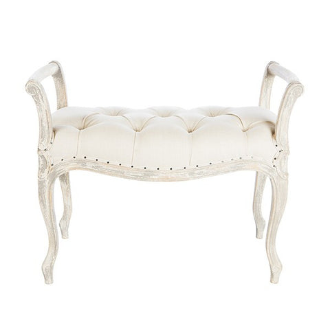 LAURIE BENCH (SHORT) IN LINEN ~ Free Shipping