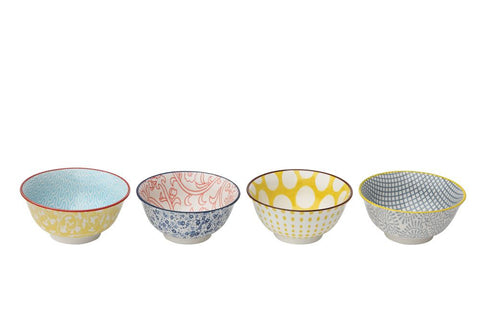Colorful Stoneware bowls for Cereal, Soup, Salad, Gumbo - set of 4  ~ free shipping