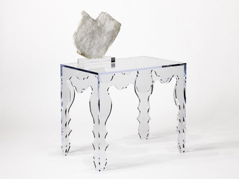 ROCOCO CONSOLE TABLE IN ACRYLIC ~ Free Shipping