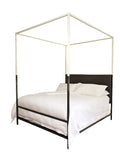 TWO TONE IRON CANOPY BED ~ Free Shipping