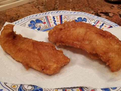 Battered fish filets