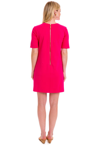 GWYNETH DRESS - HOT PINK