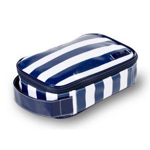 Wellie Toiletry/Cosmetic Case - White/Navy