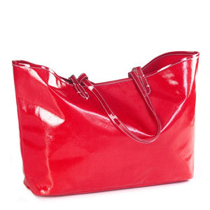 Wellie Market Tote in Red
