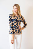Leopard Sweater | oatmeal & denim