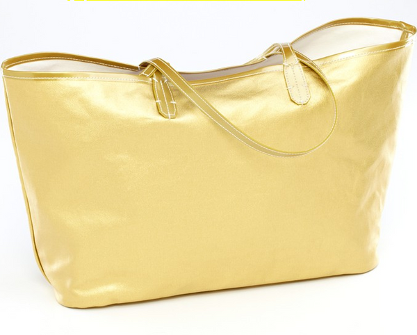 Wellie Market Tote Gold