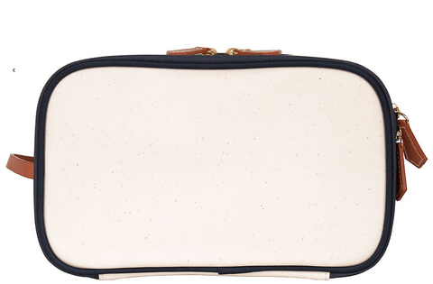 Daisy Coated Canvas Dopp Kit - Navy