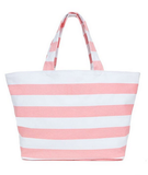 Pink and White Strip Tote