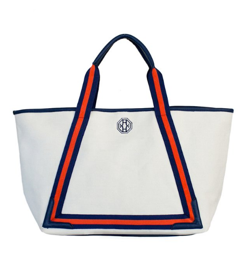 Beach Tote - Red/Navy