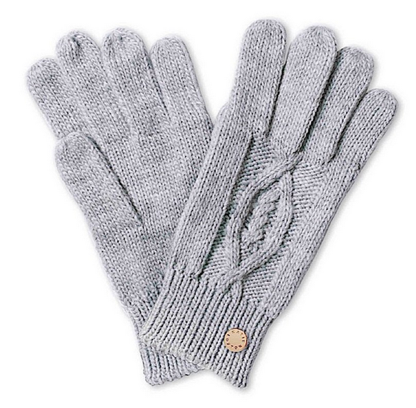 Cable Knit Gloves - Soft Grey