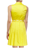 Picnic Tie Waist Shirtdress - Yellow