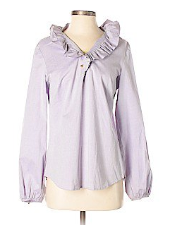 ELIZABETH SHIRT - PURPLE/CHAMBRAY
