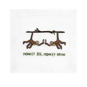 Monkey See, Monkey Drink - Cocktail Napkins