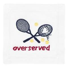Over served - Navy Cocktail Napkins
