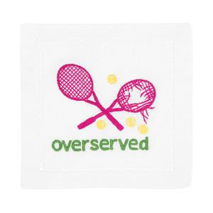 Overserved - Pink Tennis Cocktail Napkins