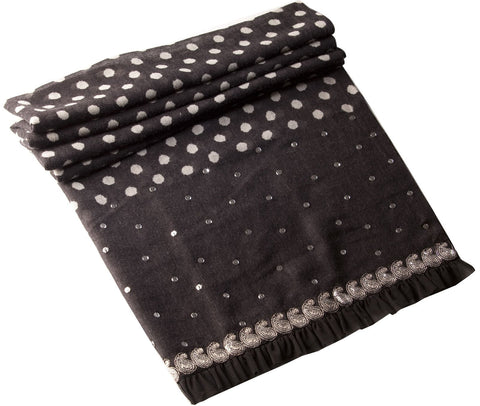 Sequin Polka Dot Wrap - Black