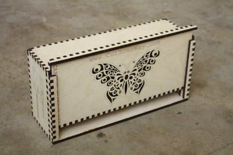 Custom laser cut finger jointed boxes outfab for Laser cut wood box template