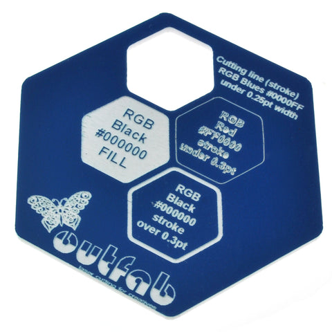 "Two Color Blue/White Acrylic</h1><p>thickness ≈ 1/16""<p>includes laser cutting, material, & US shipping</p>"